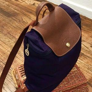 Fashion Cheap Portable Longchamp Le Pliage Backpack Fuchsia